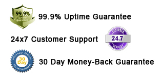 99.9% Uptime Guarantee,24x7 Customer Support & 30 Day Money-Back Guarantee With Windows Website Hosting